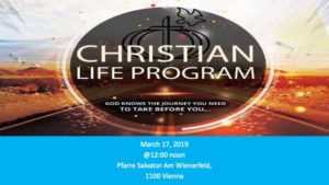 Christian Life Program (CLP) Dedication @ Pfarre Salvator Am Wienerfeld